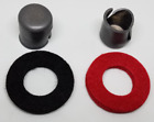 2~PC BATTERY POST LEAD SHIM CAP WITH POST WASHER FELT RINGS