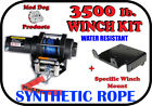 3500lb Mad Dog Synthetic Winch/Mount Kit for 2005-2017 Arctic Cat 500 4x4