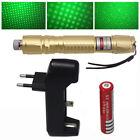 Golde  532nm Green Laser Pointer Lazer Pen Beam Light + 18650 Battery & Charger