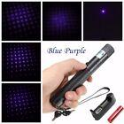 New  Blue Purple Laser Pointer 405nm Lazer Pen Beam+ 18650 Battery +Charger