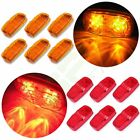 """4""""x2"""" Amber, Red Rectangle Bullseye Side Marker Turn Signal Light 12Diodes Qty12"""