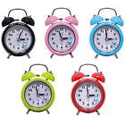 Silent Double Bells Quartz Movement Bedside Table Retro Mini Alarm Clock Frugal