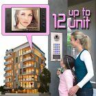 "ZOTER SECURITY 8"" Recording Video Door Phone Intercom Kit Set System 2 - 12 Flat"
