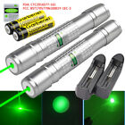 2Sets Military 20Miles 532nm Green Laser Pointer Pen Visible Beam+18650+Charger