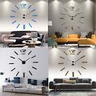 New Modern DIY Large Wall Clock 3D DIY Mirror Surface Sticker Home Decor Art