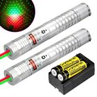 2X Tactical 2in1 Green+Red Laser Pointer Lazer Pen Beam Light +18650+Charger USA