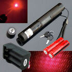 50Miles 650nm 2in1 Red Laser Pointer Lazer Pen Visible Beam Light +18650+Charger