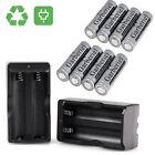 8x 18650 Rechargeable High Drain Li-ion Battery 4000mAh Flat Top Vape +2*Charger