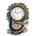 WallClock Hand MadeTraditional Rajasthani Hand Painted Wooden Peacock Shape -471