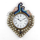 WallClock Hand MadeTraditional Rajasthani Hand Painted Wooden Peacock Shape -469