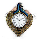 Hand MadeTraditional Rajasthani Hand Painted Wooden Peacock Shape WallClock-461
