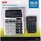 Basic 8-Digit Display Calculator, Value Pack