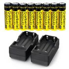 8X 3.7v 18650 Li-ion Rechargeable 18650 Battery Dual Smart Charger For Light USA