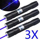 3PCS High Power Focus Laser Torch Blue Violet Purple Laser Pointer Pen for 18650