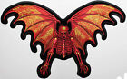 12 INCH Winged Skeleton Embroidered Iron On Patch - Biker Creepy MC W01