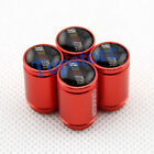 Red Sport Auto Accessories Wheel Tyre Stem Air Cap Tire Valve Caps For Ralliart