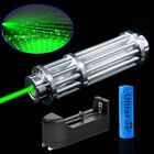 532nm 1MW Green Laser Pointer Adjustable Focus Beam Light Power Lazer Pen 18650
