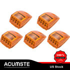 5xAmber 17LED Cab marker Top Clearance Light Universal for Trailer Kenworth