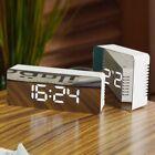 Creative LED Digital Alarm Clock Night Light Thermometer Display Mirror Lamp NS
