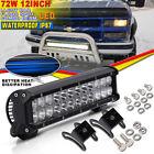 12Inch CREE LED Driving Lamp Work Light Bar 72W Combo Beam Truck UTV  Yamaha UTE