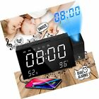 "Projection Clock, iFunTec FM Radio Alarm Clock, 7"" LED Display ... Free Shipping"
