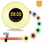 Wake Up Light Alarm Clock Sunrise Alarm Clock with Light Touch Control 7 Light