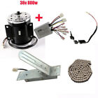 36V 800W Electric Brush Motor Controller Foot Pedal Throttle Chain complete kit