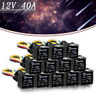12 PCS 12V Car SPDT Automotive Relay 5 Pin 5 Wires w/Harness Socket 30/40Amp