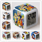 Dragon Ball Cartoon Alarm Clock Color Changing LED Night Watch Student Gift