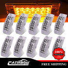 """10x 6"""" Side Marker Clear/Amber Clearance light Surface Mount 20LED light Trailer"""
