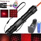 Military 10 Miles 532nm Red Laser Pointer Pen Visibles Beam +Battery +Star Cap
