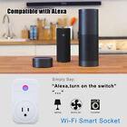 WiFi Smart Socket Outlet Timer Wireless Control Power Switch Plug Work w/ Alexa