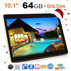 """10.1"""" Android 7.0 Tablet PC 64G Dual Sim Camera Phone Phablet Quad Core HD Wifi"""