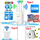 1200/300M Dual Band Wireless Router 4 Antenna Range Extender WiFi Repeater Boost