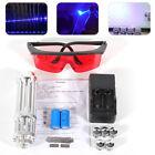 US! Military 5W 450nm High Power Blue Laser Pointer Visible Lazer Beam Light Pen