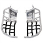 Tusk Foot Peg Nerf Bars With Heel Guards Silver With Black Webbing 19-2282