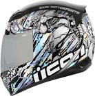 Icon Airmada Mechanica Robot Motorcycle Street Helmet Silver Blue XX-Large 2XL