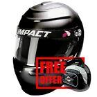 Impact Racing 12915510 Helmet - Vapor LS 15 LG Black - Free  Helmet Bag Included