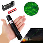 Black Visible Beam Green Laser Pointer Pen 532nm Rechargeable Portable Lazer+Cap
