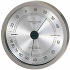 Empex Super EX EX-2727 analog Thermometer & Hygrometer Metallic Gray Japan