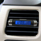 Car Conditioning Air Vent LCD Blue Backlight Clip-on Clock Thermometer Calendar
