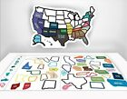 RV State Sticker Trailer Travel Map USA States Visited Decal Wall Motorhome