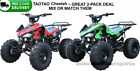 TWO Youth kids ATVs 4 wheeler Automatic w/Reverse +2 FREE HELMETS presents gifts