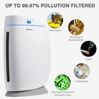 HEPA Auto Air Purifier Cleaner Smoke Dust Remover Ionic Ionizer w/Remote Control
