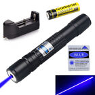 50Miles 405NM Blue Violet Purple Laser Pointer Pen Visible Beam Light TY