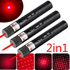 3PCS 50Miles 650nm 303 Red Laser Pointer Lazer Pen Zoomable 2in1 Beam Light USA
