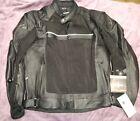 NWT Size 44 Joe Rocket Syndicate Hybrid Leather Jacket BLACK
