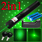 2in1 532nm Green Laser Pointer Pen Visible Beam Light Adjustable Focus Lazer USA