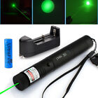 G303 532nm Green Laser Pointer Pen Visible Beam Light Zoom Lazer + 18650+Charger