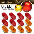 """Rectangular Led marker Lights Reflectorized 4"""" Trailer RV Camper 7 Red & 5 Amber"""